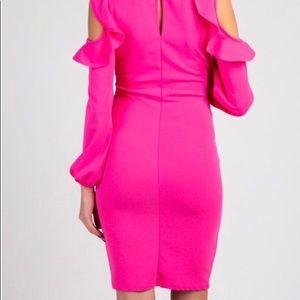 Pinkblush Dresses - PinkBlush Maternity Ruffled Cold Shoulder Dress